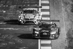 #29 Audi Sport Team WRT, Audi R8 LMS: Nicki Thiim, Christer Jöns, Pierre Kaffer, Laurens Vanthoor und #25 Marc VDS Racing, BMW Z4 GT3: Maxime Martin, Lucas Luhr, Markus Palttala, Richard Westbrook