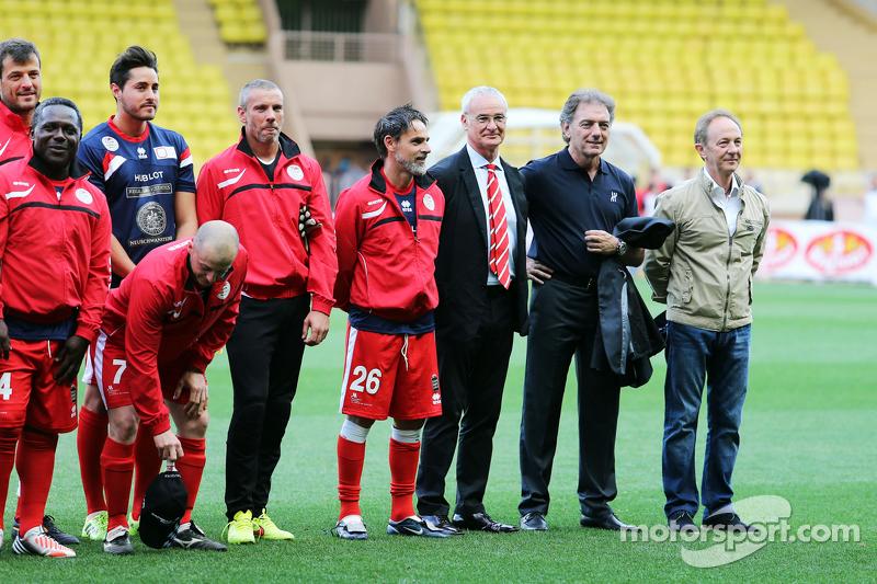 Claudio Ranieri, Fußball-Manager, bei der Teamvorstellung beim Fußballspiel für den guten Zweck