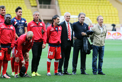 Claudio Ranieri Foorball Manager, at the team line up at the charity football match