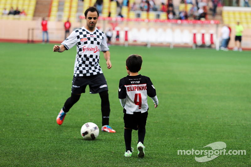 Felipe Massa Williams with his son Felipinho Massa at the charity football match