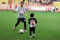 Felipe Massa Williams with his son Felipinho Massa at the charity football match