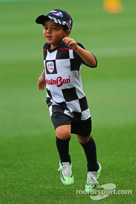 Felipinho Massa beim Fußballspiel für den guten Zweck