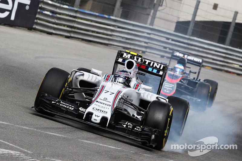 Bloccaggio della ruota in frenata di Valtteri Bottas, Williams FW37