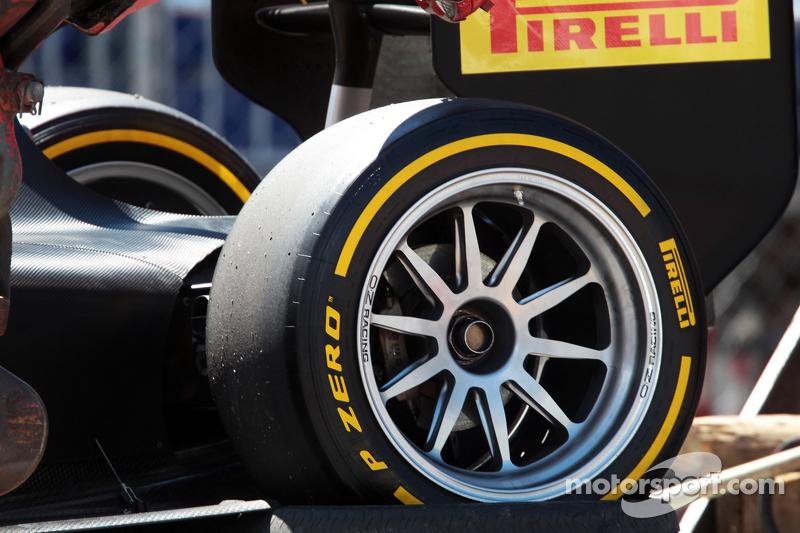 Pirelli: 18-Zoll-Reifen an einem GP2-Auto