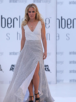 Jennifer Becks, girlfriend of Adrian Sutil, Williams Reserve Driver, at the Amber Lounge Fashion Show