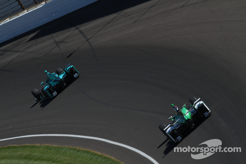 James Davison, Dale Coyne Racing Honda and Carlos Munoz, Andretti Autosport Honda