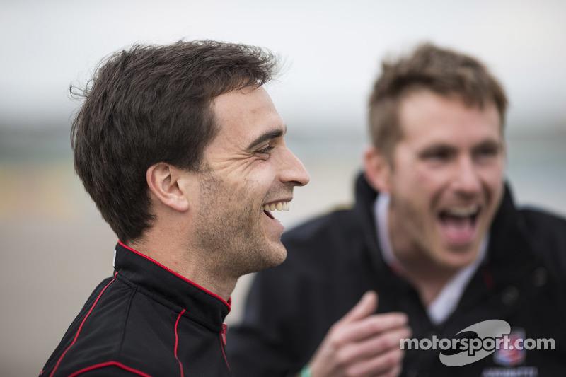 Jérôme d'Ambrosio, Dragon Racing, und Scott Speed, Andretti Autosport