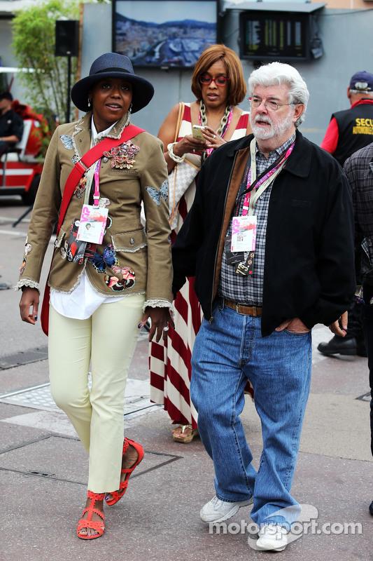 George Lucas, Erfinder von Star Wars, mit seiner Frau Mellody Hobson
