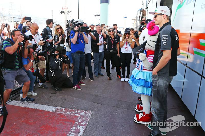 Nico Hülkenberg, Sahara Force India F1, mit Hello Kitty