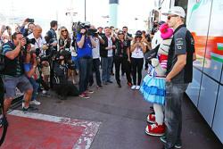 Nico Hulkenberg, Sahara Force India F1 with Hello Kitty