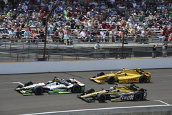 Sebastien Bourdais, KVSH Racing, Ryan Briscoe, Schmidt Peterson Motorsports Honda, dan Ryan Hunter-Reay, Andretti Autosport Honda