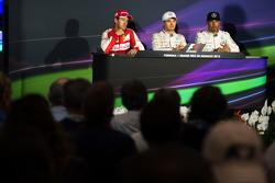 FIA Press Conference,: Sebastian Vettel, Ferrari, second; Nico Rosberg, Mercedes AMG F1, race winner; Lewis Hamilton, Mercedes AMG F1, third