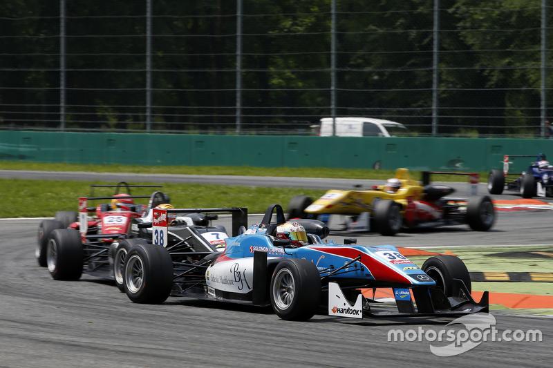 Raoul Hyman, Team West-Tec F3, Dallara Mercedes-Benz, und Lance Stroll, Prema Powerteam, Dallara Mer
