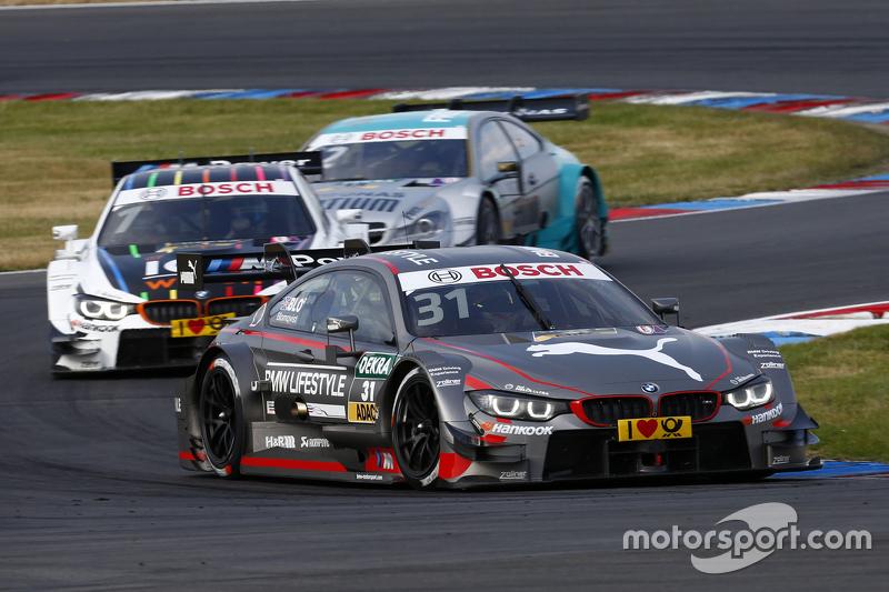 Tom Blomqvist, BMW M4 DTM and Marco Wittmann, BMW M4 DTM and Daniel Juncadella, Mercedes-AMG C 63 DT