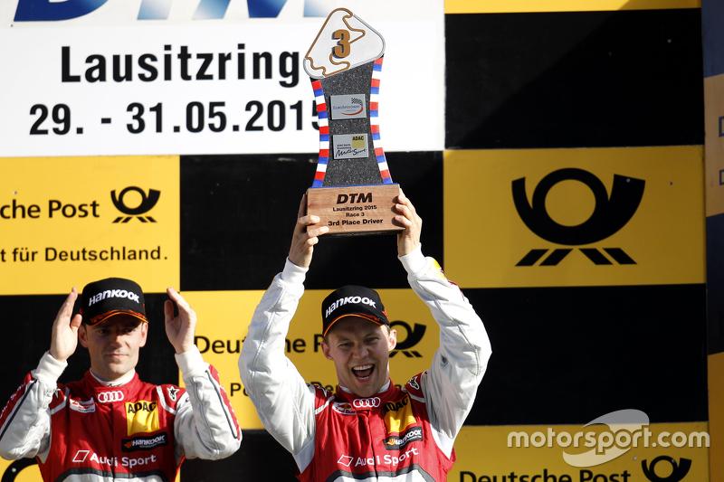 Podium: 3. Mattias Ekström, Audi Sport Team Abt Sportsline, Audi A5 DTM