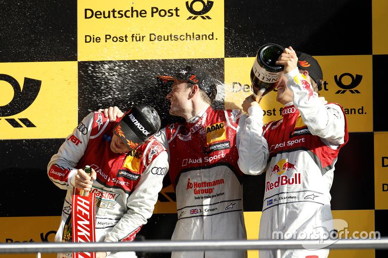 Podium: Edoardo Mortara, Audi Sport Team Abt Audi RS 5 DTM, Jamie Green, Audi Sport Team Rosberg Aud