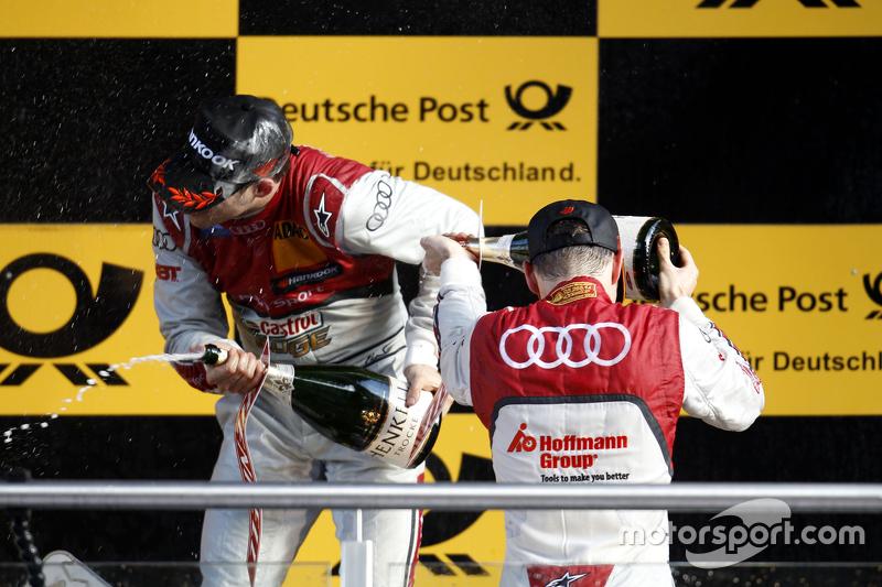 Podium: Edoardo Mortara, Audi Sport Team Abt Audi RS 5 DTM and Jamie Green, Audi Sport Team Rosberg