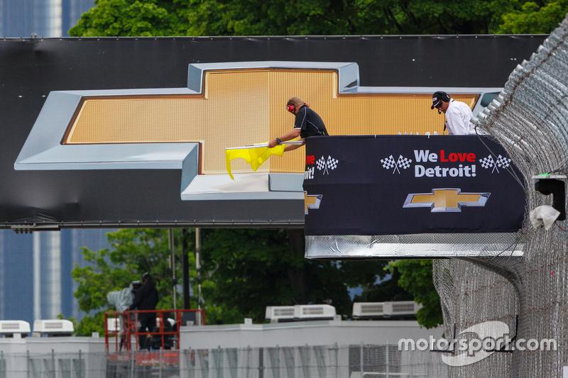 Gelbe Flagge in Detroit