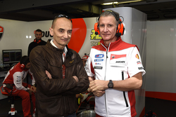 Claudio Domenicali and Paolo Ciabatti, Ducati Team