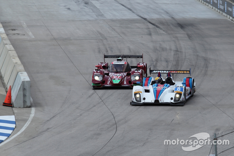 #07 SpeedSource Mazda Prototype: Joel Miller, Tom Long sowie #8 Starworks Motorsport, ORECA FLM09: R