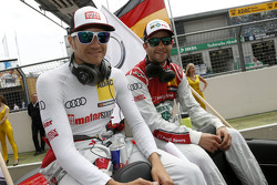 Timo Scheider, Audi Sport Team Phoenix Audi RS 5 DTM and Mike Rockenfeller, Audi Sport Team Phoenix Audi RS 5 DTM