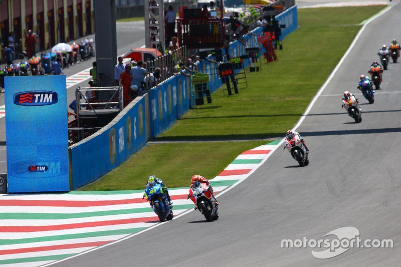 Michele Pirro, Ducati Team, dan Aleix Espargaro, Team Suzuki MotoGP