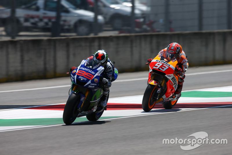 Jorge Lorenzo, Yamaha Factory Racing y Marc Márquez, Repsol Honda Team