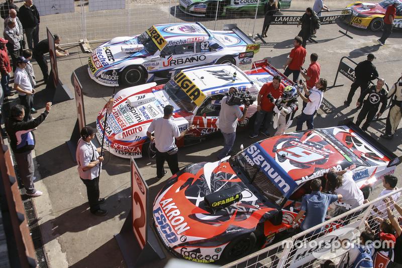 Top 3 #1 Juan Manuel Silva, Catalan Magni Motorsport Ford #2 Guillermo Ortelli, JP Racing Chevrolet