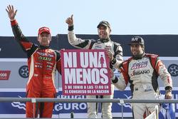 Podium Guillermo Ortelli, JP Racing Chevrolet and Juan Manuel Silva, Catalan Magni Motorsport Ford and Mauricio Lambiris, Coiro Dole Racing Torino