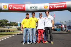 Ruben Carrapatoso, Sérgio Jimenez, Dennis Dirani e Denilo Dirani no SKB