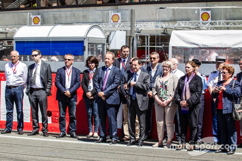 Ceremony to commemorate the tragey  1955 24 Hours of Le Mans: ACO Президент П'єр Фійон
