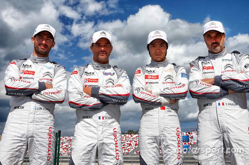 Jose Maria Lopez, Sébastien Loeb, Qing-Hua Ma, Yvan Muller, Citroën C-Elysée WTCC, Citroën World Touring Car Team