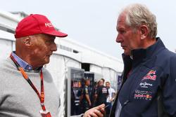Ники Лауда, Mercedes и доктор Хельмут Марко, консультант Red Bull Motorsport