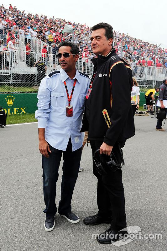 Federico Gastaldi, stellvertretender Teamchef Lotus F1 Team, in der Startaufstellung