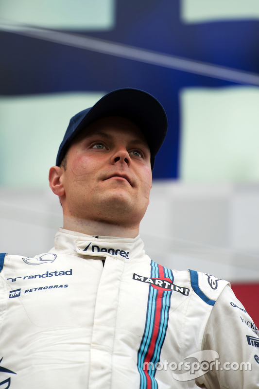 Podium: Third placed Valtteri Bottas, Williams