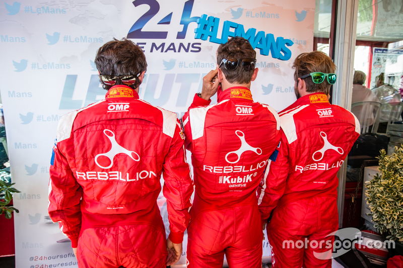 Rebellion Racing: Nicolas Prost, Mathias Beche and Nick Heidfeld