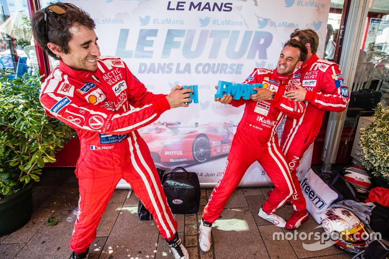 Rebellion Racing: Nicolas Prost und Mathias Beche brechen das Siegel #LEMANS und Nick Heidfeld sieht