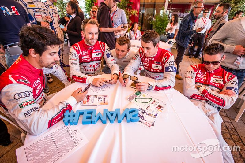 Audi Sport Team Joest: Lucas Di Grassi, René Rast, Marcel Fässler, Oliver Jarvis dan danre Lotterer