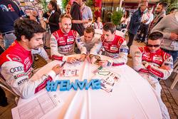Audi Sport Team Joest: Lucas Di Grassi, René Rast, Marcel Fässler, Oliver Jarvis and Andre Lotterer