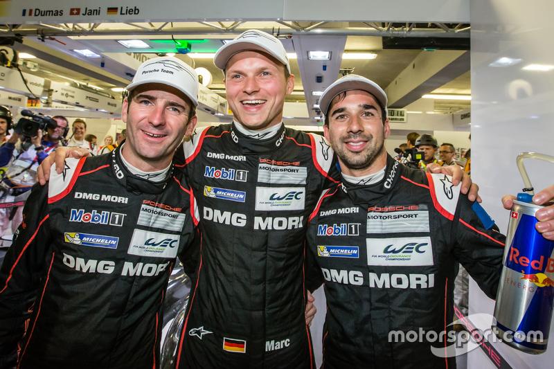 Pole-Position: 1. Romain Dumas, Marc Lieb und Neel Jani