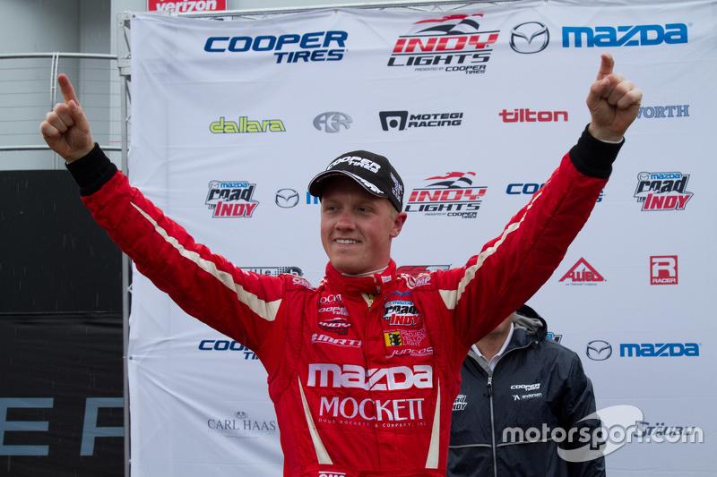 Podium: race winner Spencer Pigot