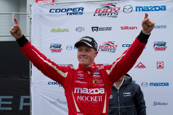 Podium: race winner Spencer Pigot