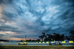 #64 Corvette Racing Corvette C7.R: Jordan Taylor, Oliver Gavin, Tommy Milner, #42 Strakka Racing Strakka-Dome S103: Nick Leventis, Jonny Kane, Danny Watts