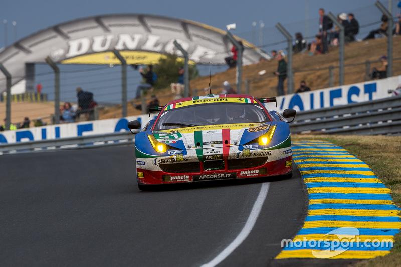 #51 AF Corse Ferrari 458 GTE: Gianmaria Bruni, Toni Vilander, Giancarlo Fisichella