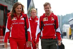 Stefania Bocchi, Ferrari Press Officer con Sebastian Vettel, Ferrari