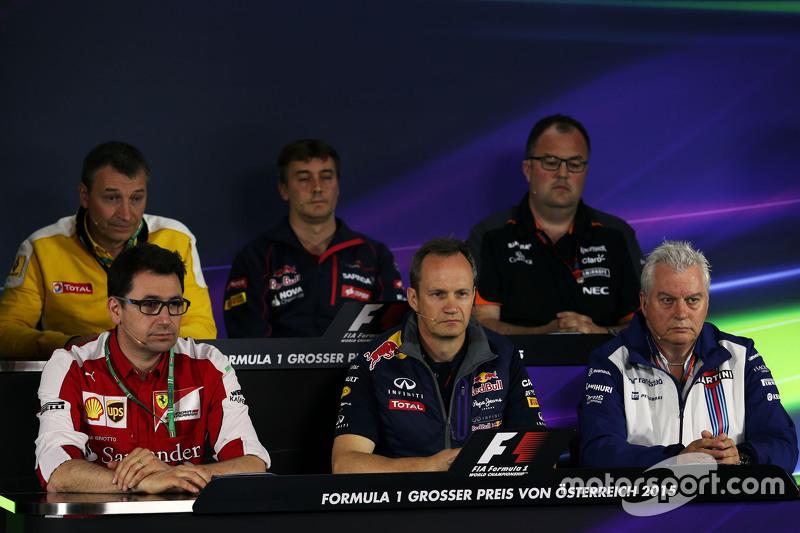 The FIA Press Conference: Rob White, Renault Sport Deputy Managing Director; James Key, Scuderia Tor