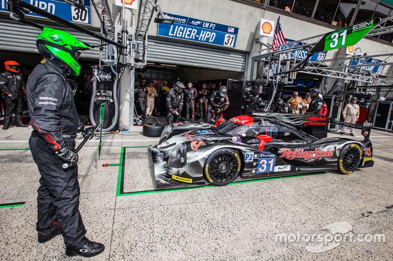Boxenstopp für #31 Extreme Speed Motorsports, Ligier JS P2: Ed Brown, Jon Fogarty, Johannes van Overbeek