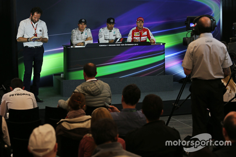 FIA Press Conference: Nico Rosberg and Lewis Hamilton, Mercedes AMG F1 and Sebastian Vettel, Ferrari