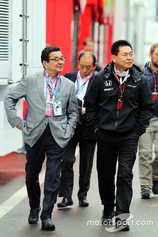 Takahiro Hachigo, Honda CEO met Yasuhisa Arai, Honda Motorsport Chief Officer