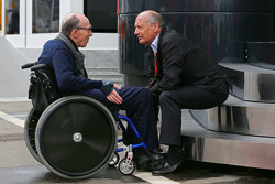 Frank Williams, Williams Team Owner with Ron Dennis, McLaren Executive Chairman